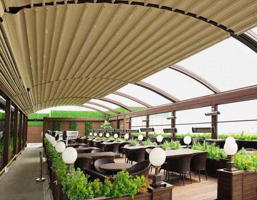 سقف متحرک مجتمع تجاری کورش